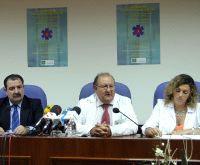 Los doctores Buforn, Pérez Rielo y Estecha