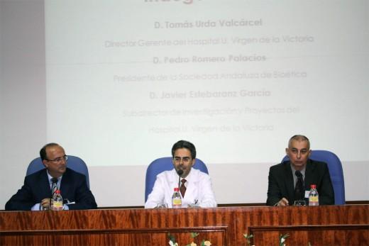 Nuestro director gerente, Tomás Urda, durante el acto de inauguración