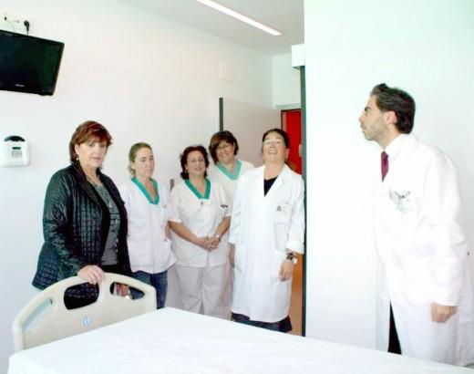 La delegada de Salud, María Antigua Escalera junto al gerente, Tomás Urda