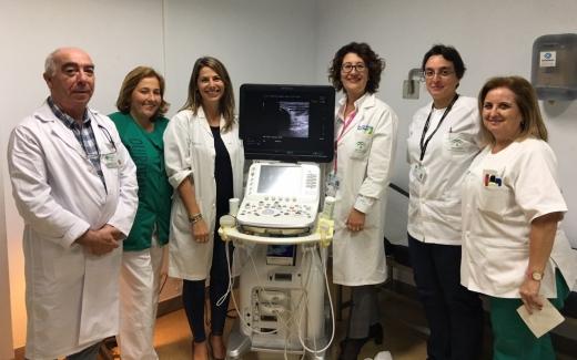 El Hospital Virgen de la Victoria adquiere tres nuevos equipos para ecografías