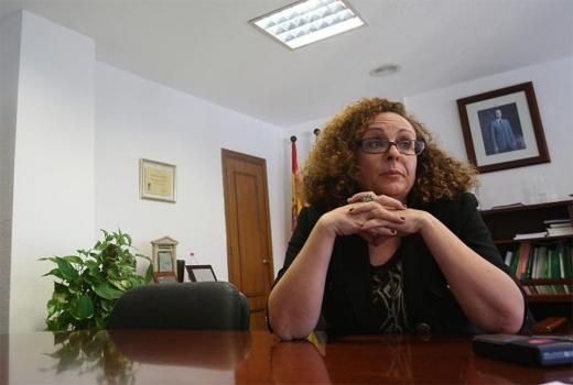 Carmen Cortes, en su despacho del hospital Carlos Haya.