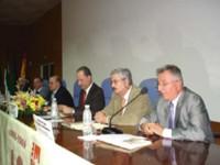Mesa de inauguración del acto con motivo del décimo aniversario de la asociación