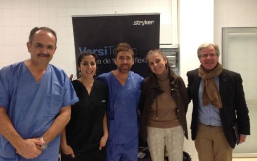 Organizadores de la sesión de formación en técnicas de artroscopia de rodilla