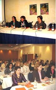 Mesa inaugural y asistentes a la I Jornada de Enfermería Interniveles