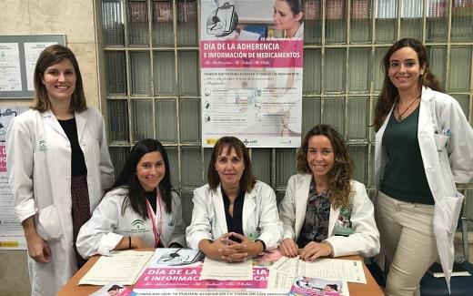 Farmacéuticos y técnicos de Farmacia del Hospital Regional de Málaga