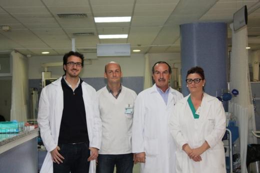 Profesionales del área de Urgencias del Hospital