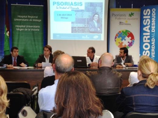 Jornada informativa sobre psoriasis celebrada en el Hospital Civil de Málaga