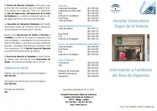 Nueva Guía de Información a Familiares y Pacientes en el Área de Urgencias