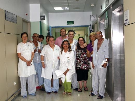 Pacientes, familiares y profesionales de la Unidad de Cirugía Cardiaca