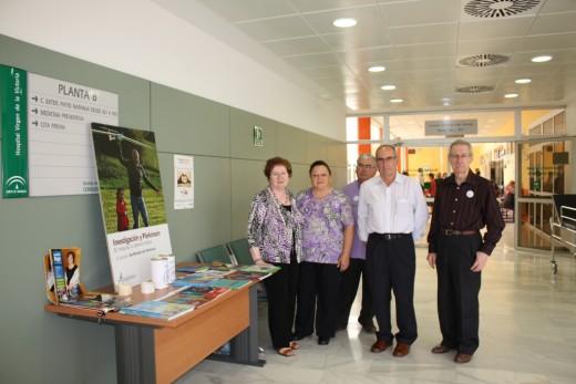 Miembros de la asociación malagueña de Parkinson en nuestro Hospital