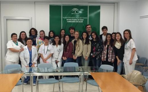 Visitas de estudiantes de bachiller al Hospital Universitario