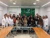 Alumnos de Bachiller del Colegio La Asunción junto con profesionales del centro