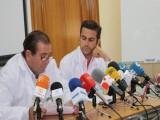 Profesionales del Servicio de Dermatología durante una Rueda de Prensa